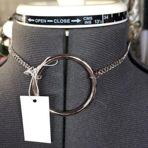 NWT Sole Society choker silver hoop
